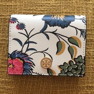 NWOT Tory Burch Bifold Floral Small Wallet